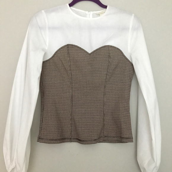 5b7a22c0bc9219 H&M Tops | Hm Corset Long Sleeve Top | Poshmark